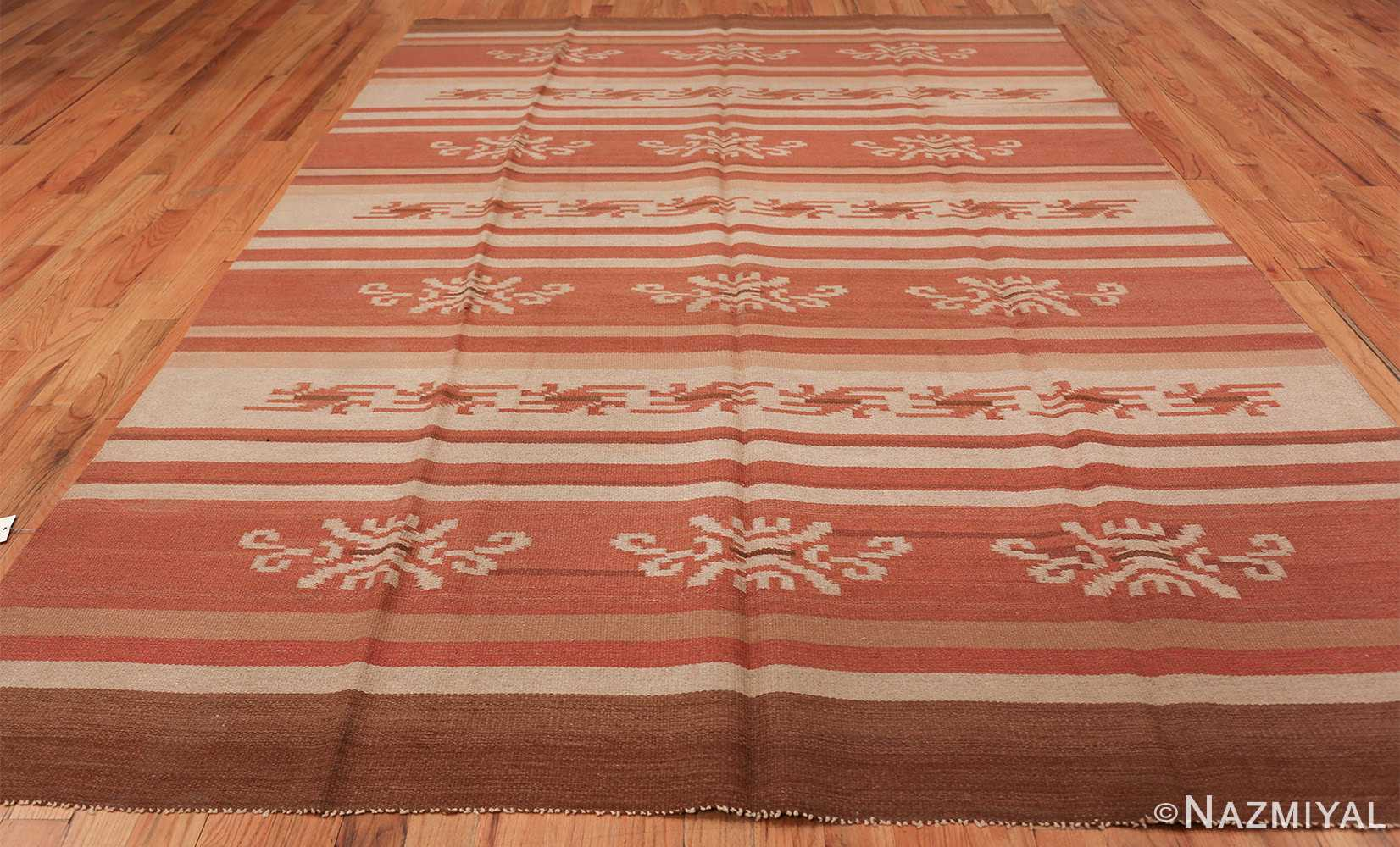 vintage scandinavian swedish kilim rug 3381 all Nazmiyal