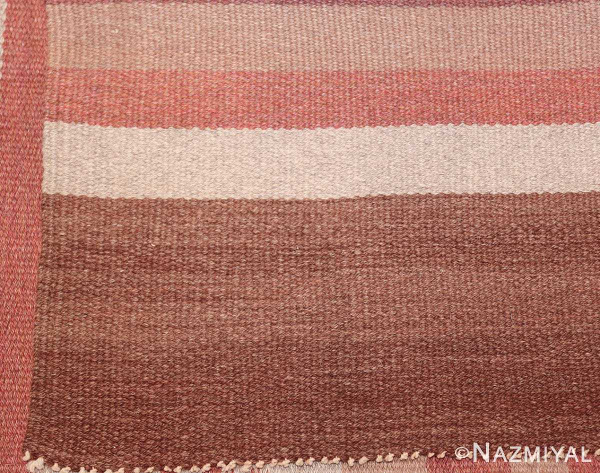 vintage scandinavian swedish kilim rug 3381 back Nazmiyal