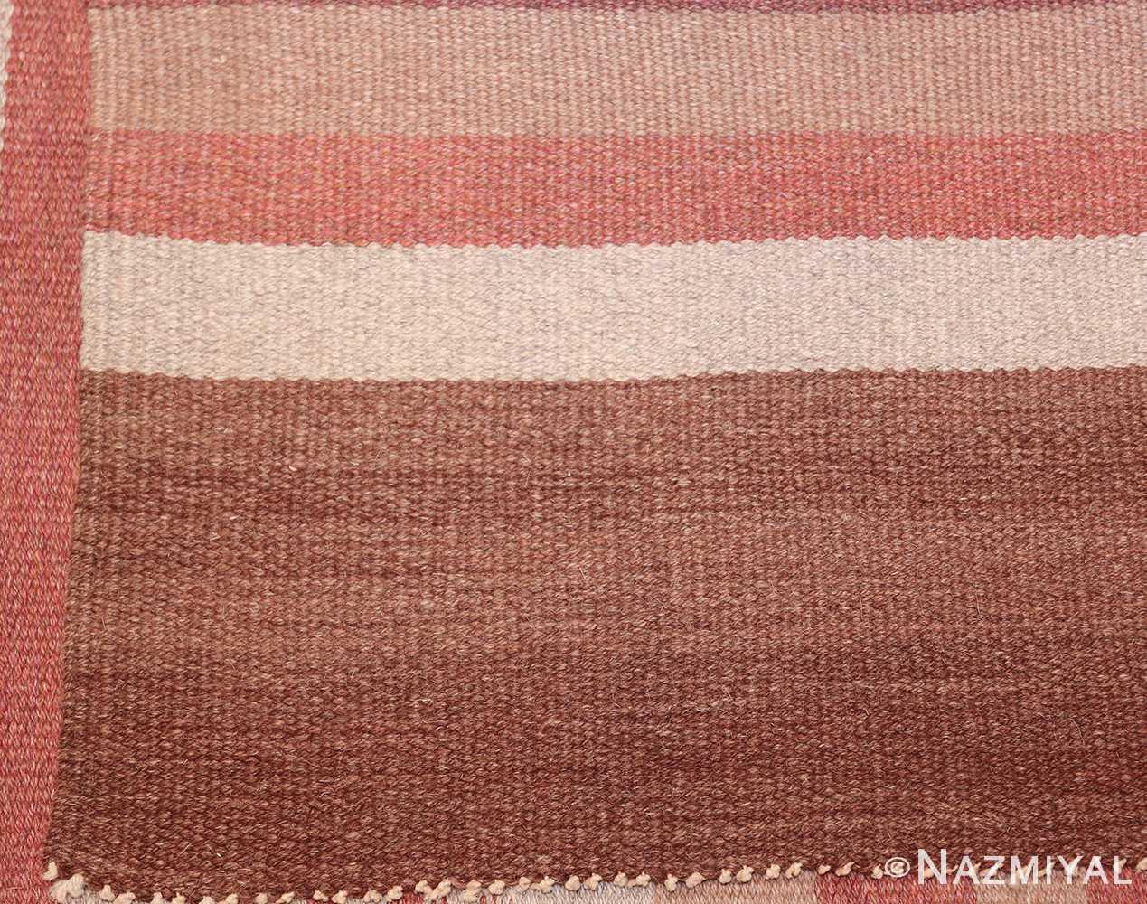 vintage scandinavian swedish kilim rug 3381 back Nazmiyal