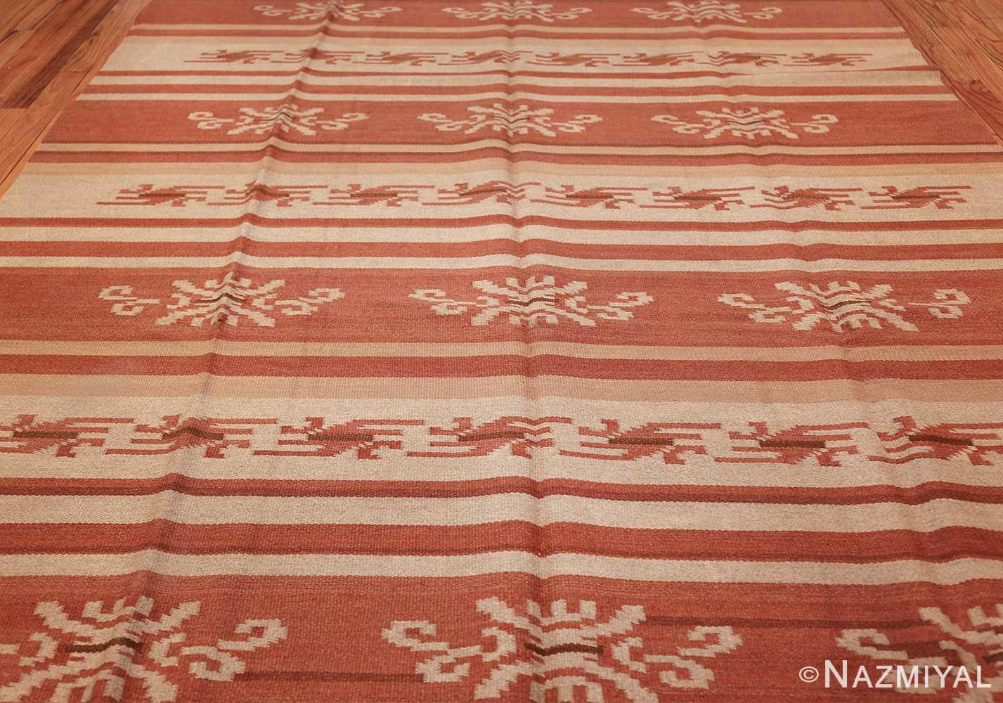 vintage scandinavian swedish kilim rug 3381 field Nazmiyal