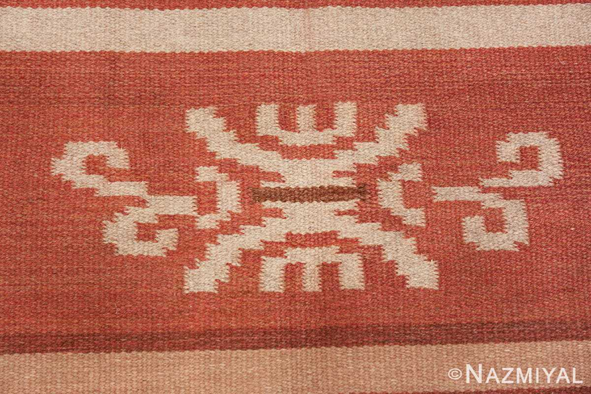 vintage scandinavian swedish kilim rug 3381 ivory Nazmiyal