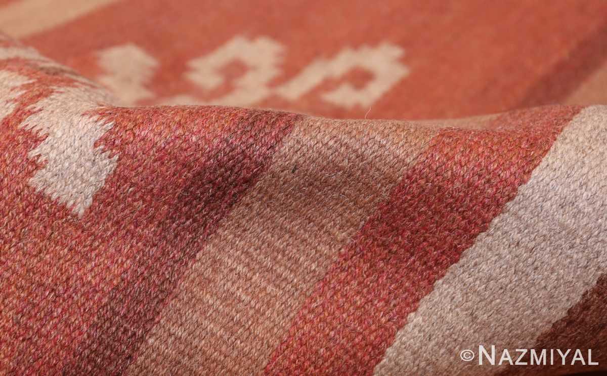vintage scandinavian swedish kilim rug 3381 pile Nazmiyal