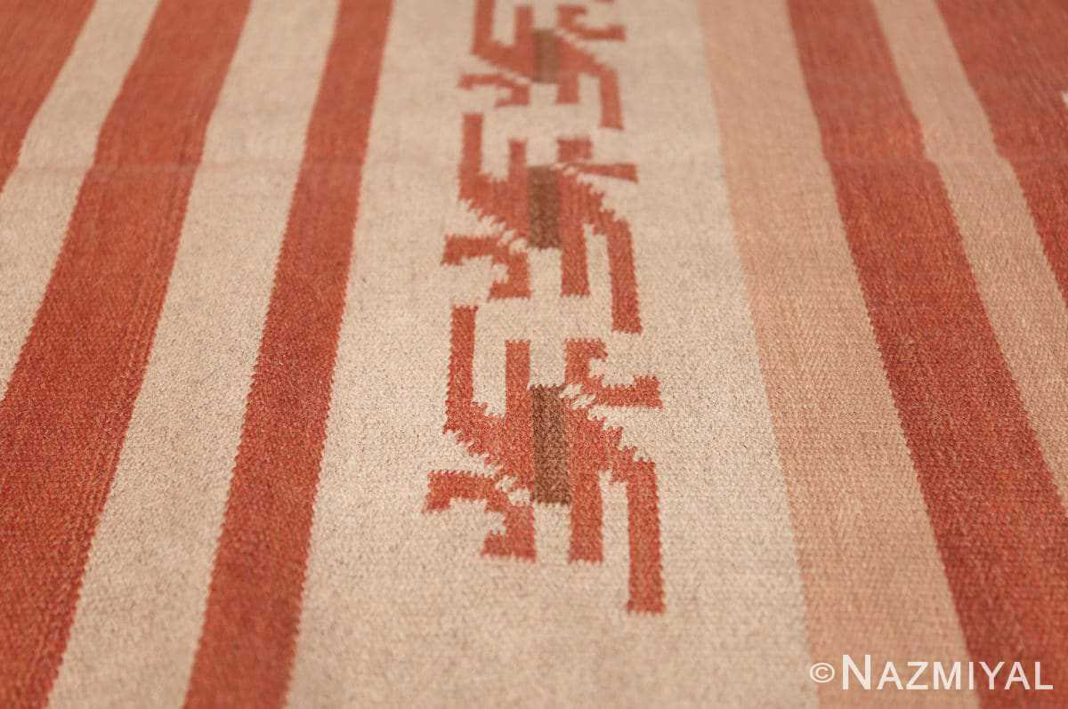 vintage scandinavian swedish kilim rug 3381 red Nazmiyal
