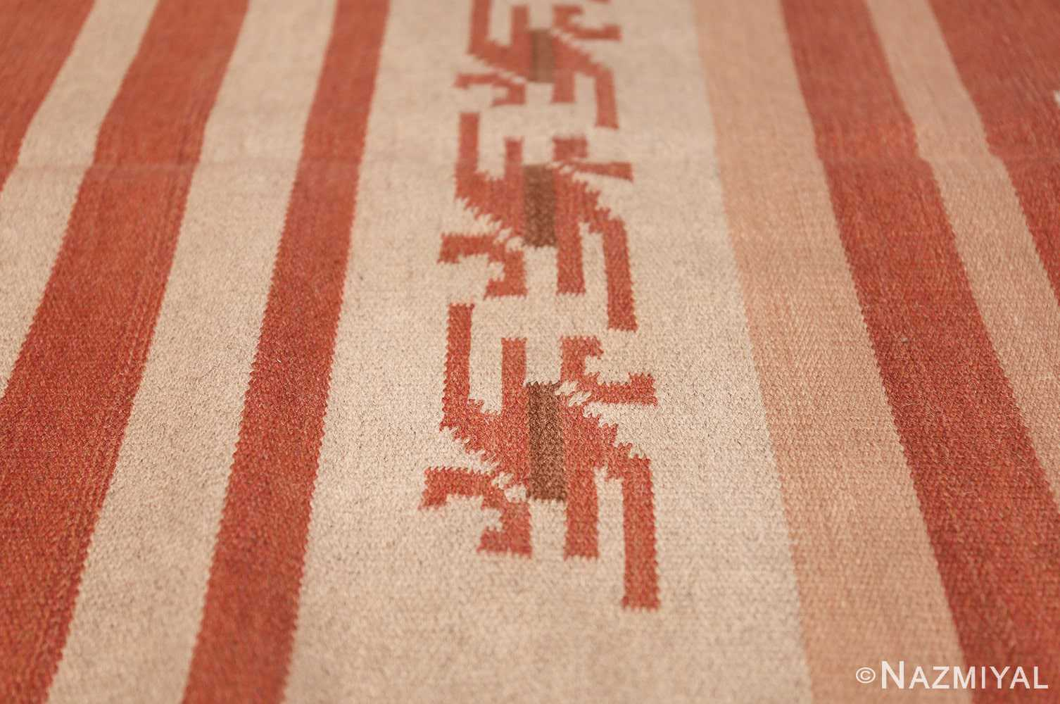 vintage scandinavian swedish kilim rug 3381 red Nazmiyal