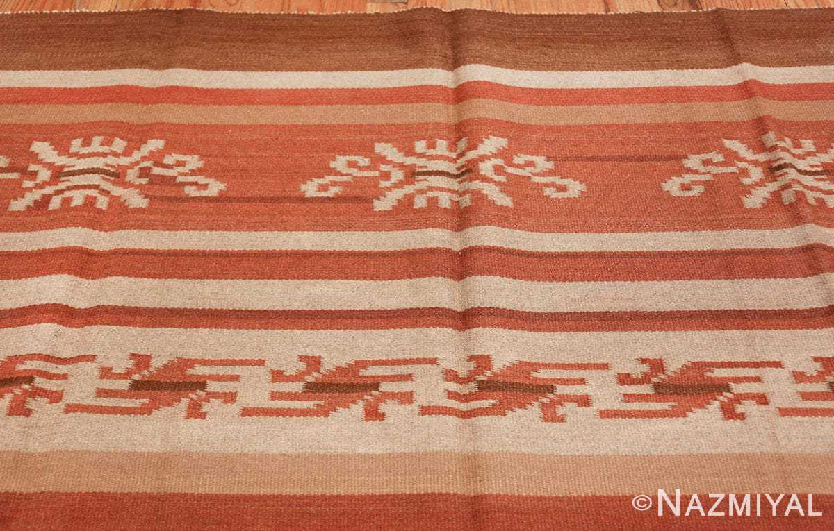 vintage scandinavian swedish kilim rug 3381 top Nazmiyal