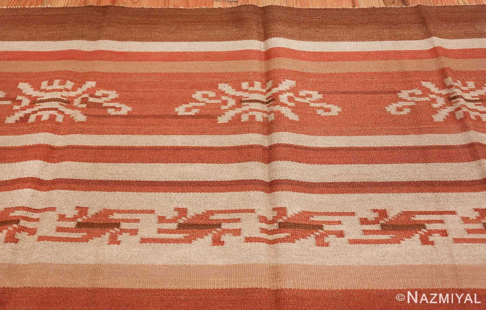 vintage scandinavian swedish kilim rug 3381 top Nazmiyal