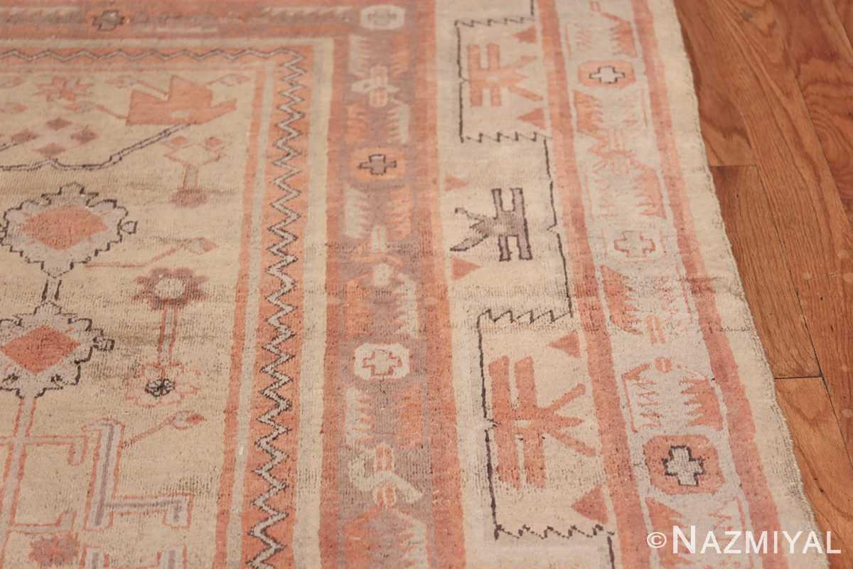Antique Khotan Rug 40447 Border Design Nazmiyal