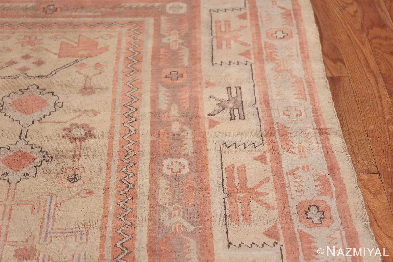 Antique Khotan Rug 40447 Border Design Nazmiyal