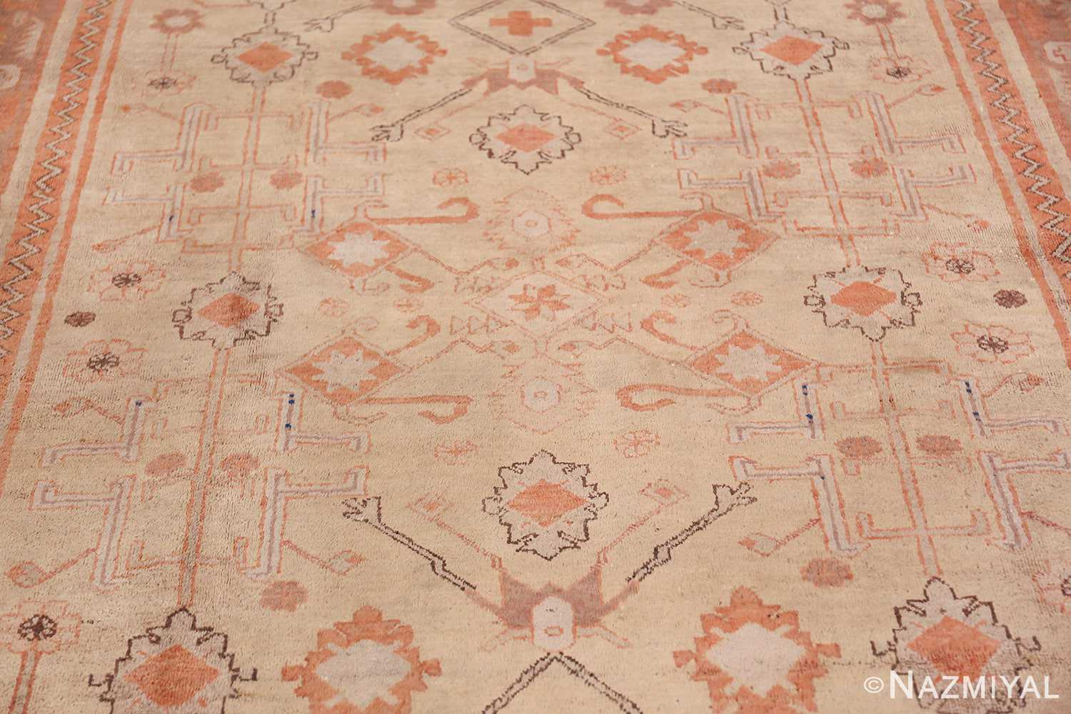 Antique Khotan Rug 40447 Central Medallion Nazmiyal