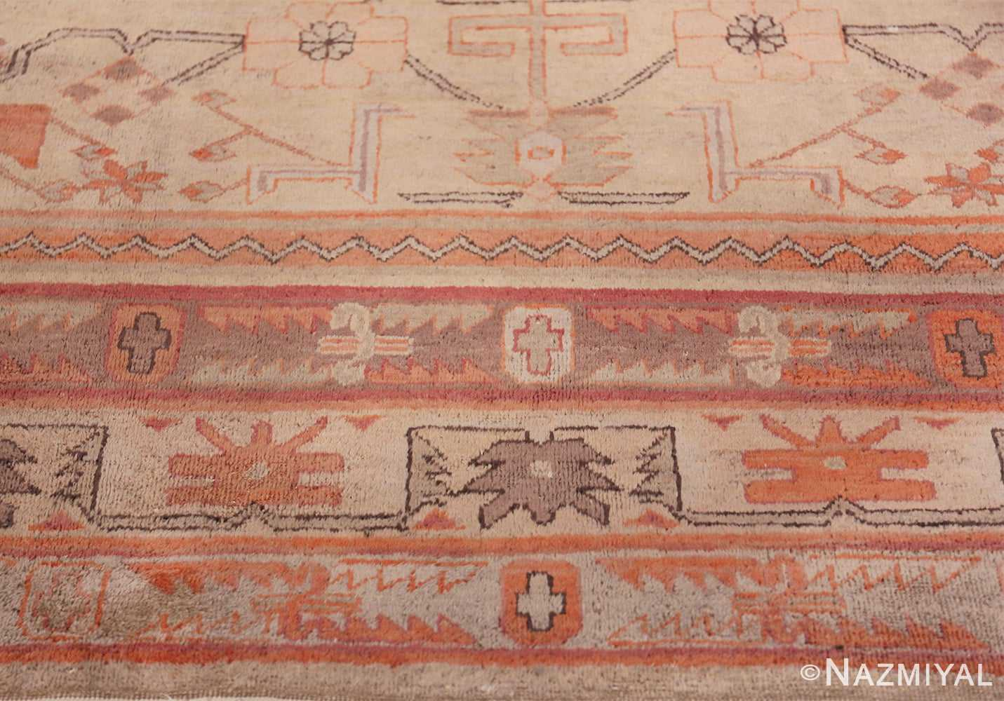Antique Khotan Rug 40447 Horizontal Border Nazmiyal