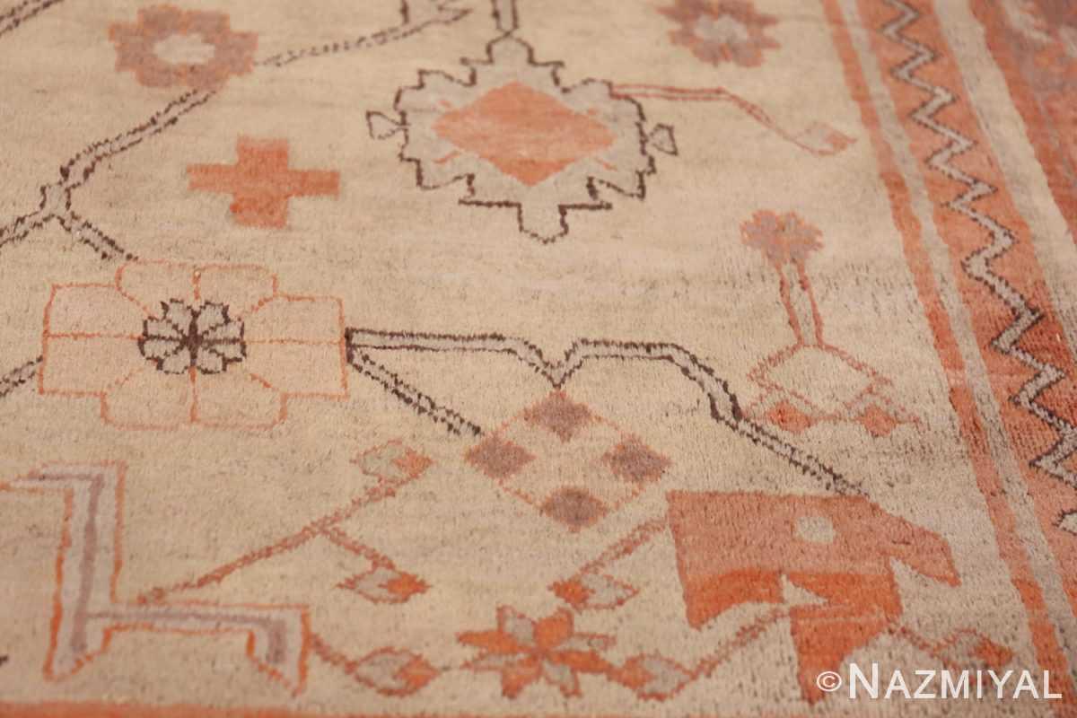 Antique Khotan Rug 40447 Ivory Flower Nazmiyal