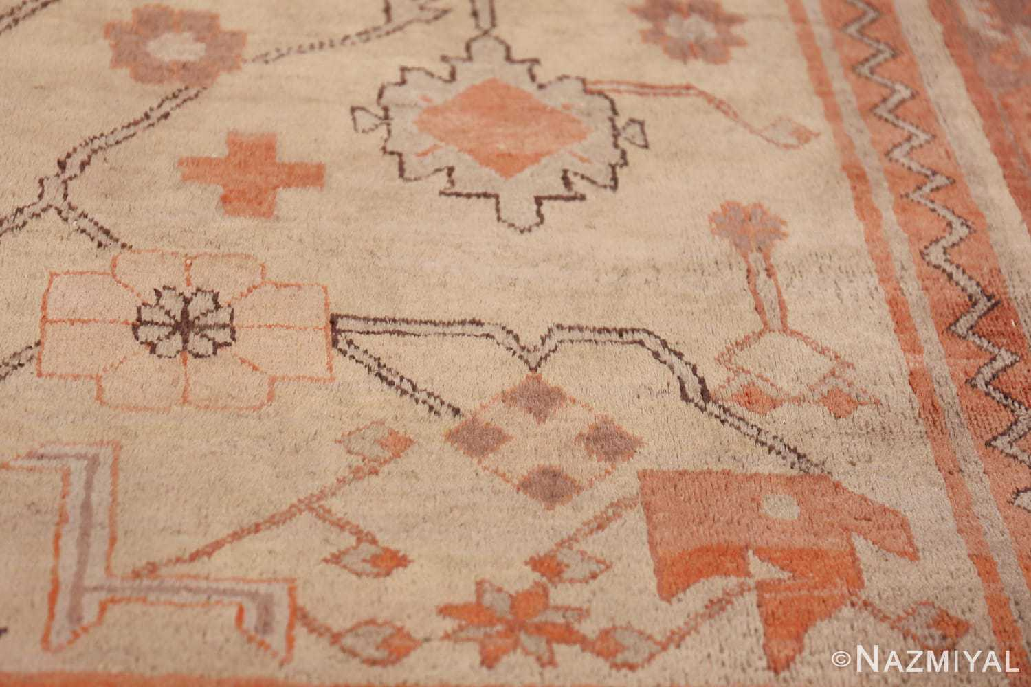 Antique Khotan Rug 40447 Ivory Flower Nazmiyal