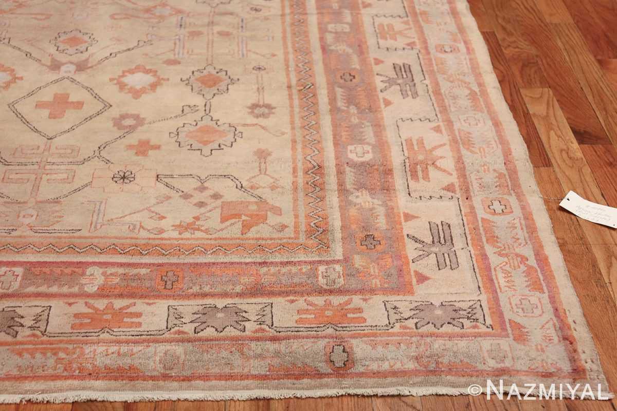 Antique Khotan Rug 40447 Side Corner Nazmiyal