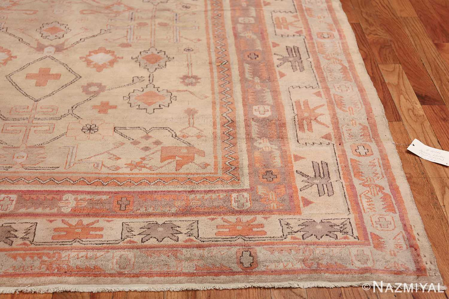Antique Khotan Rug 40447 Side Corner Nazmiyal