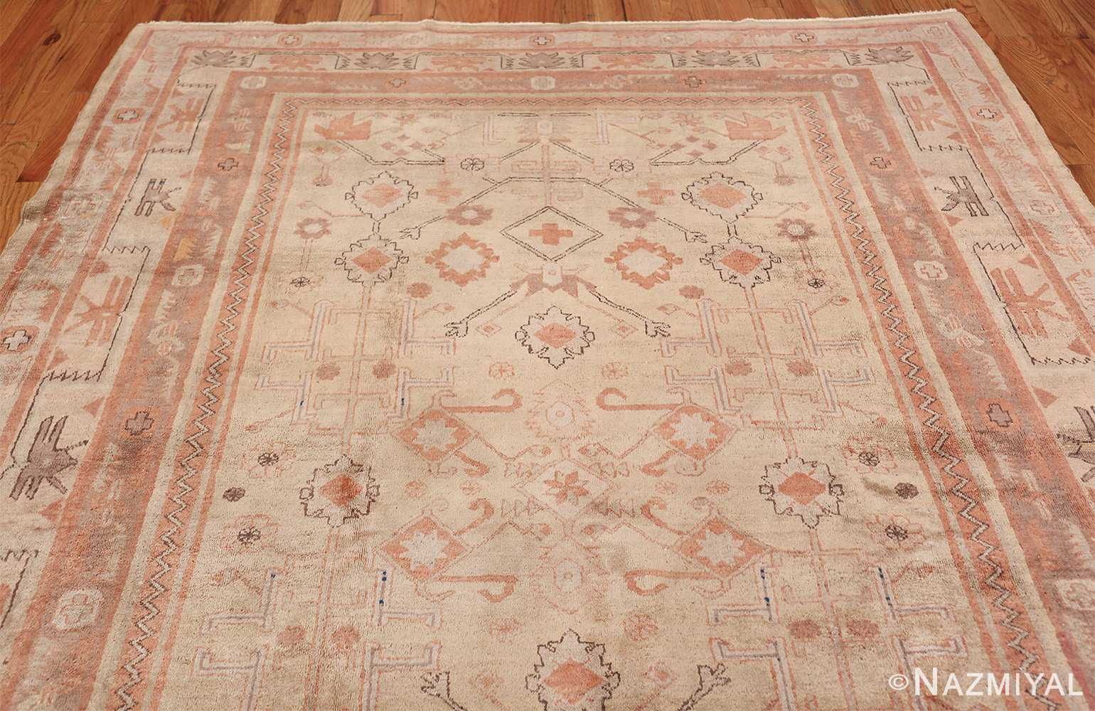 Antique Khotan Rug 40447 Top Medallion Nazmiyal