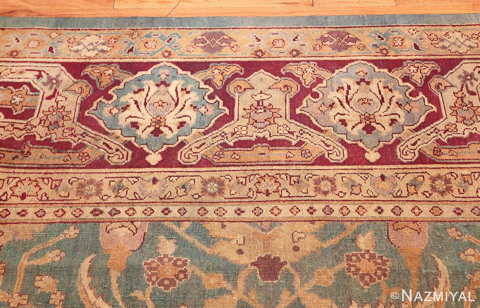 antique agra indian rug 41461 border Nazmiyal