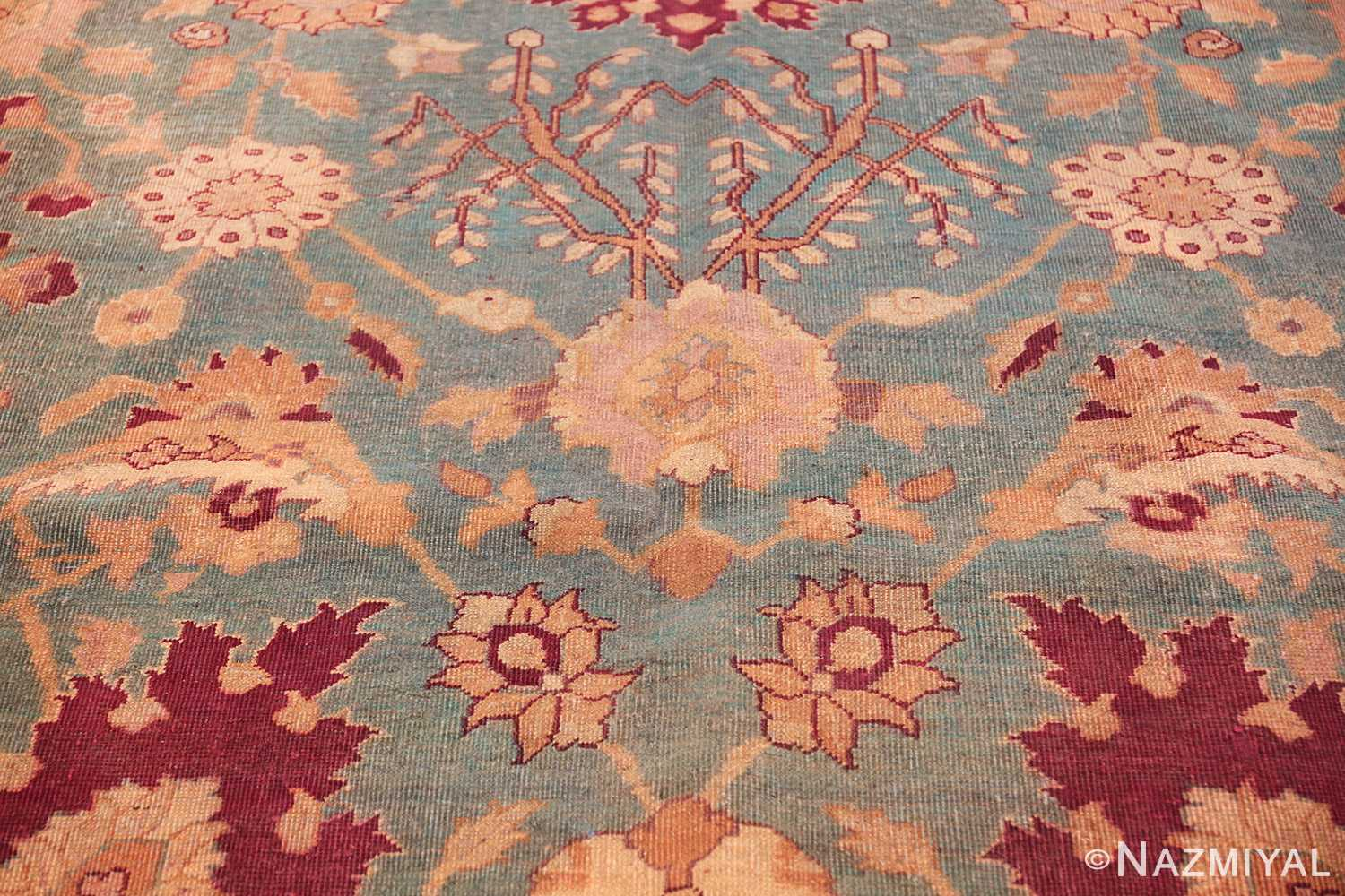 antique agra indian rug 41461 yellow Nazmiyal