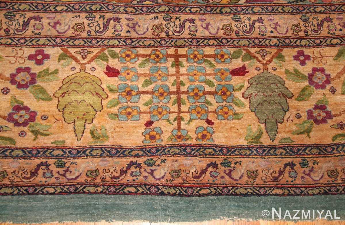 antique indian agra rug 40317 border Nazmiyal