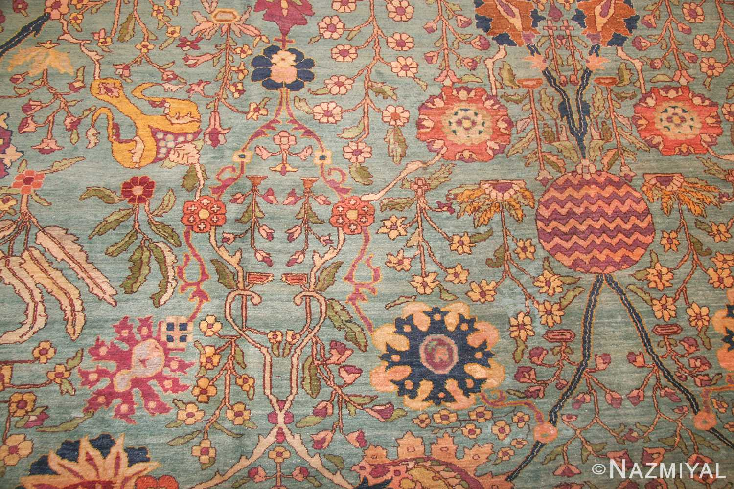 antique indian agra rug 40317 field Nazmiyal