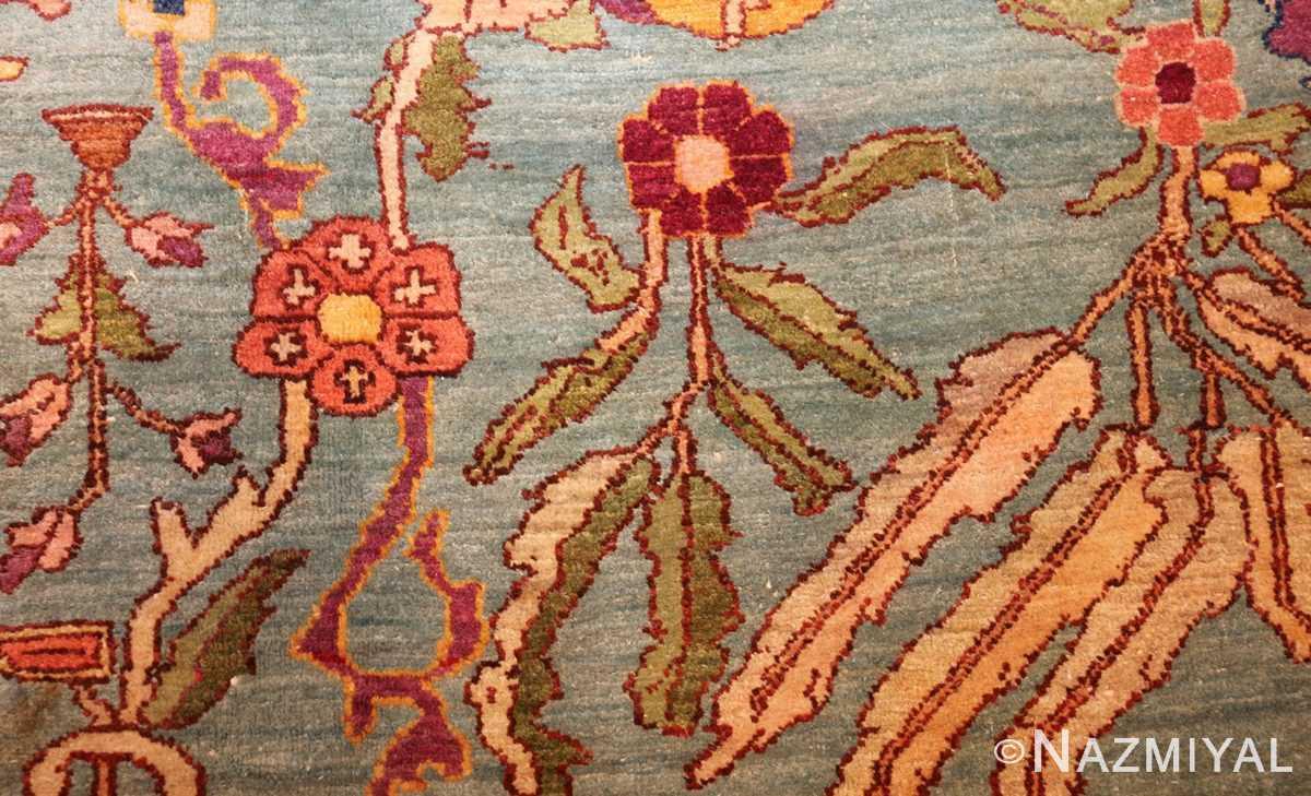 antique indian agra rug 40317 flower Nazmiyal