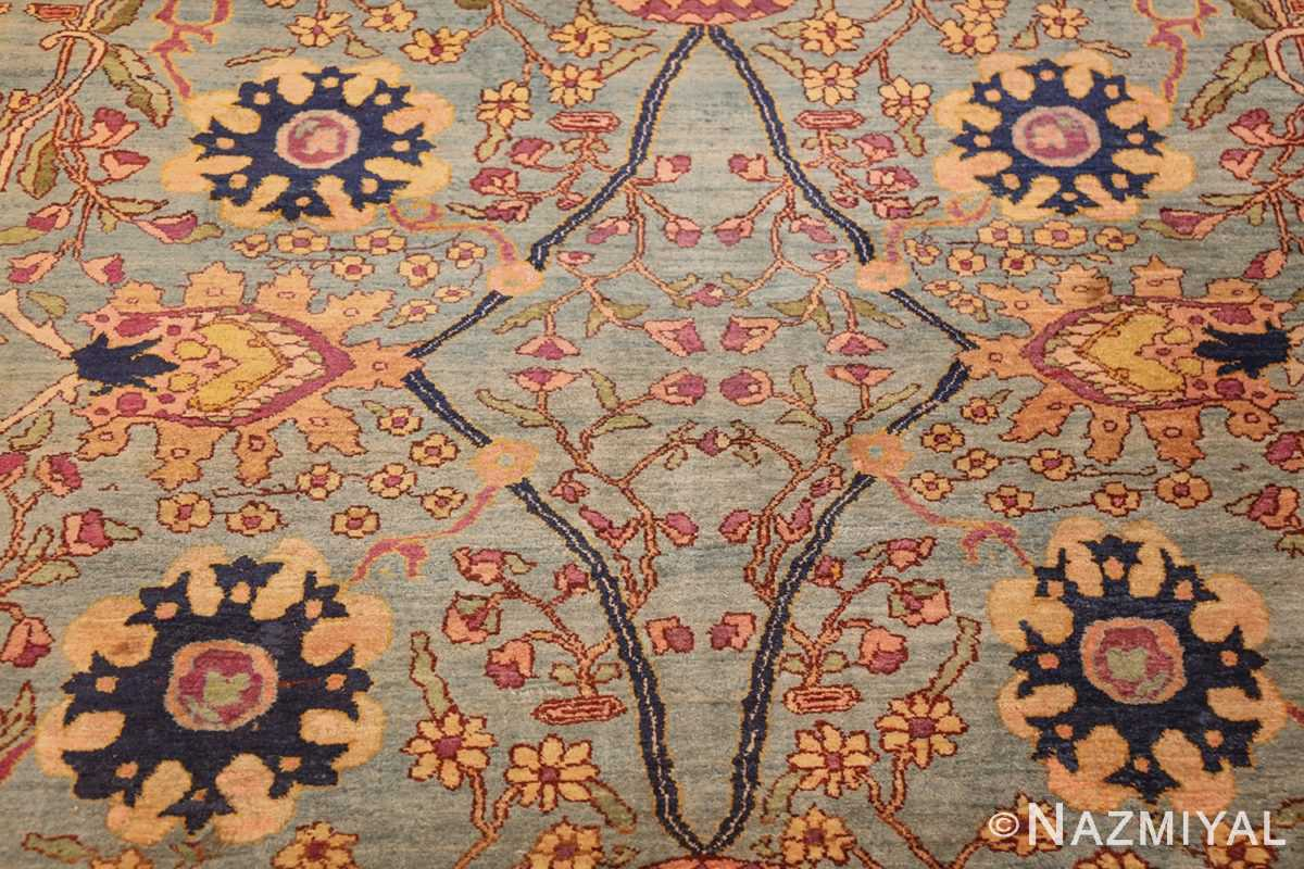 antique indian agra rug 40317 middle Nazmiyal