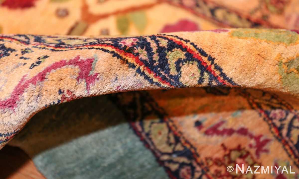 antique indian agra rug 40317 pile Nazmiyal