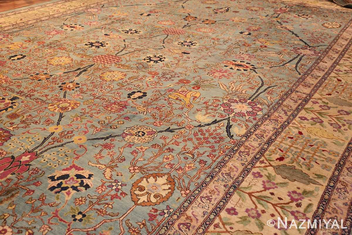 antique indian agra rug 40317 side Nazmiyal