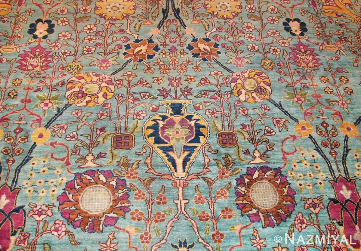 antique indian agra rug 40317 vase Nazmiyal