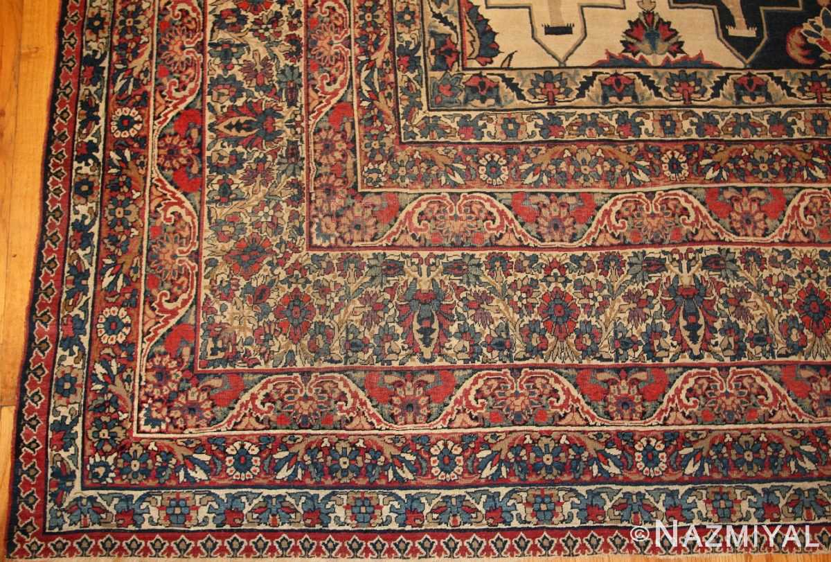 antique persian kerman rug 3403 border Nazmiyal