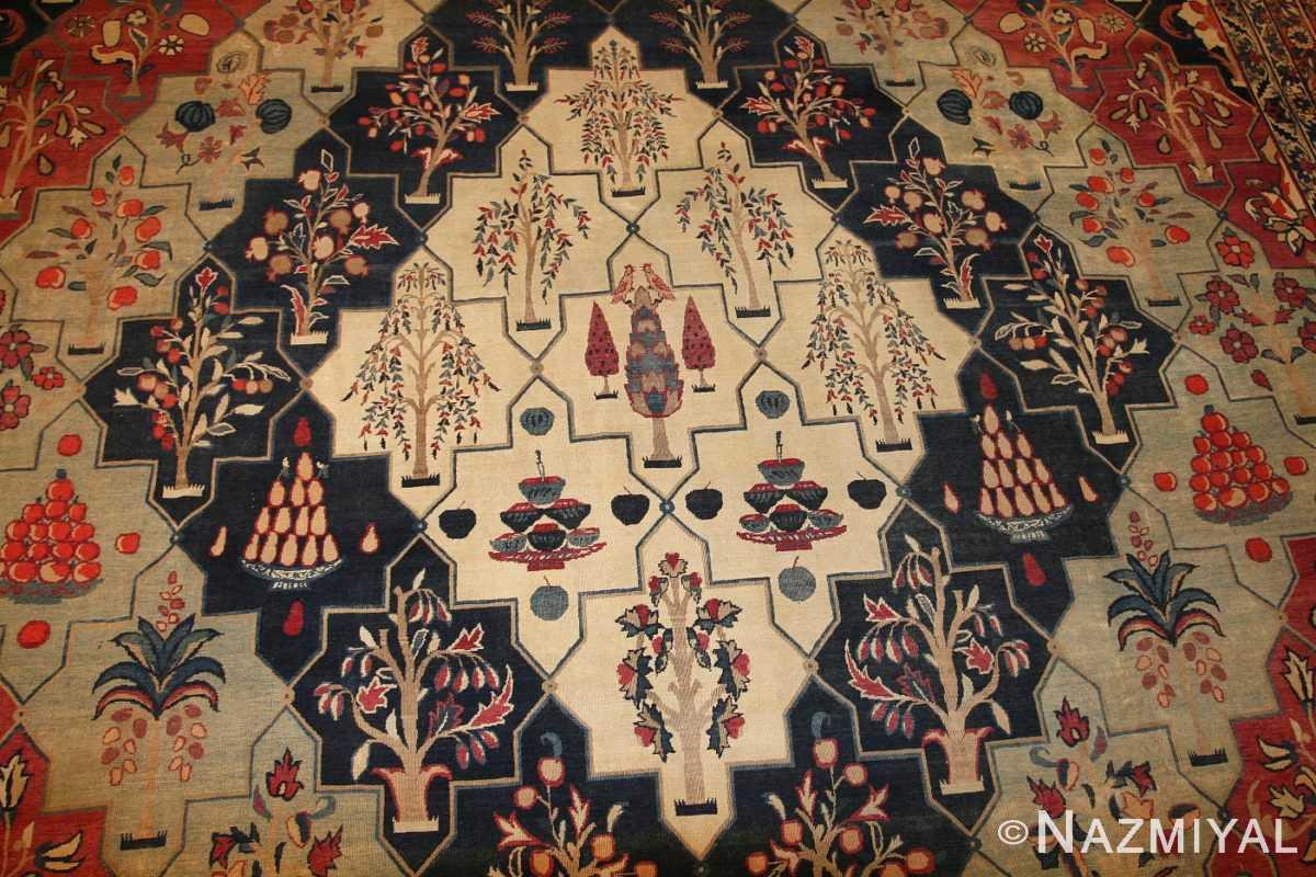 antique persian kerman rug 3403 field Nazmiyal