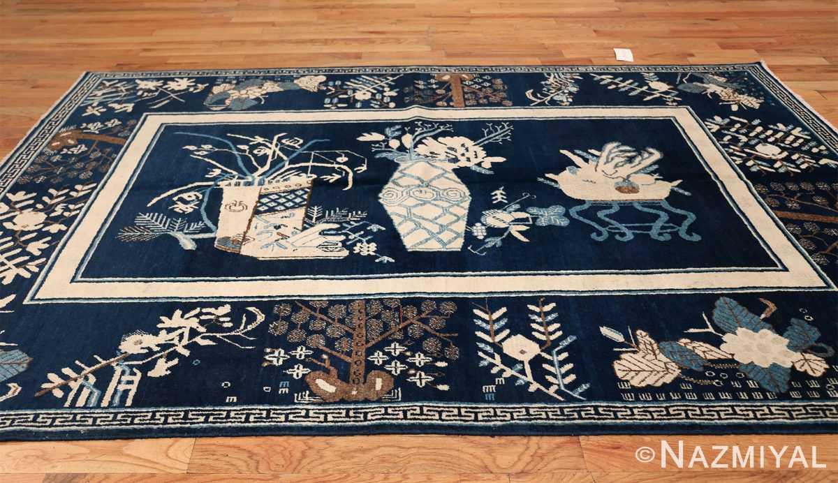 Beautiful Navy Blue Antique Khotan Rug 42447 Whole Design Horizontal Nazmiyal