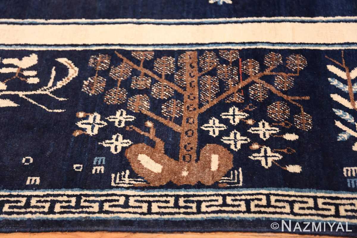 Beautiful Navy Blue Antique Khotan Rug 42447 Willow Tree Nazmiyal
