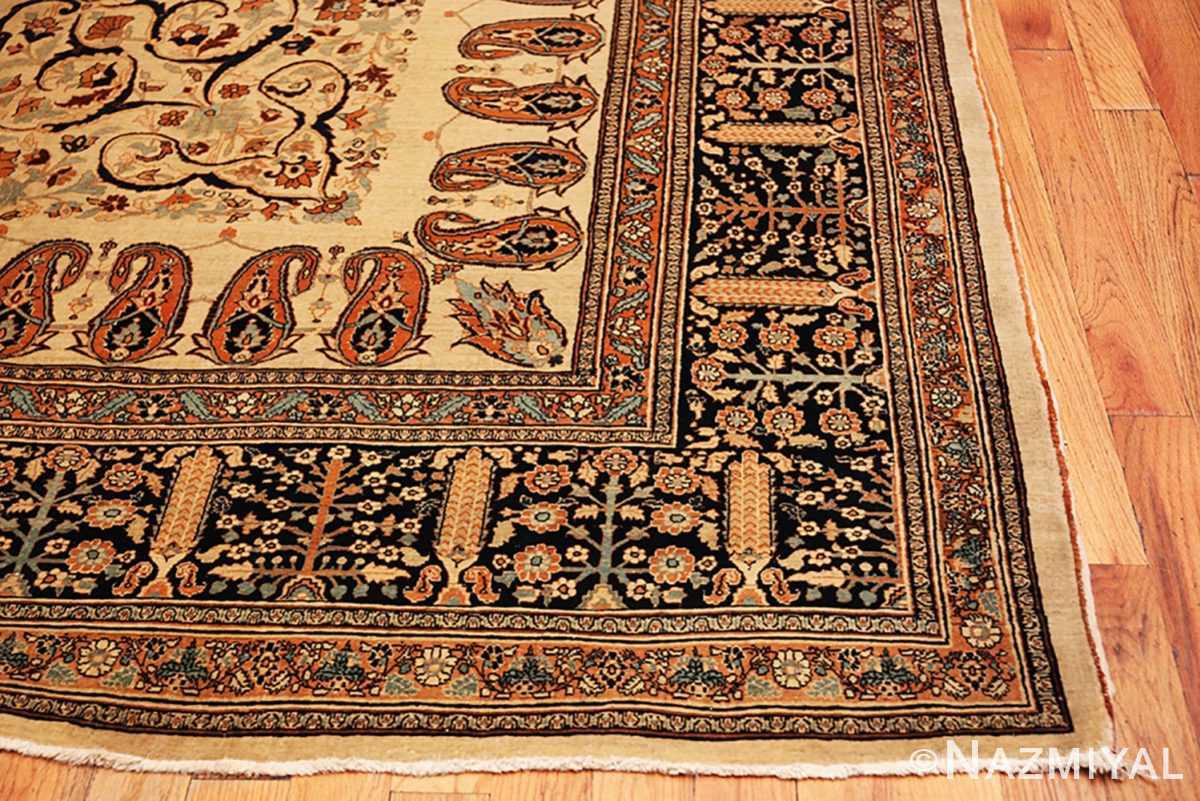 Corner Antique Tabriz Haji Jalili Persian rug 3209 by Nazmiyal