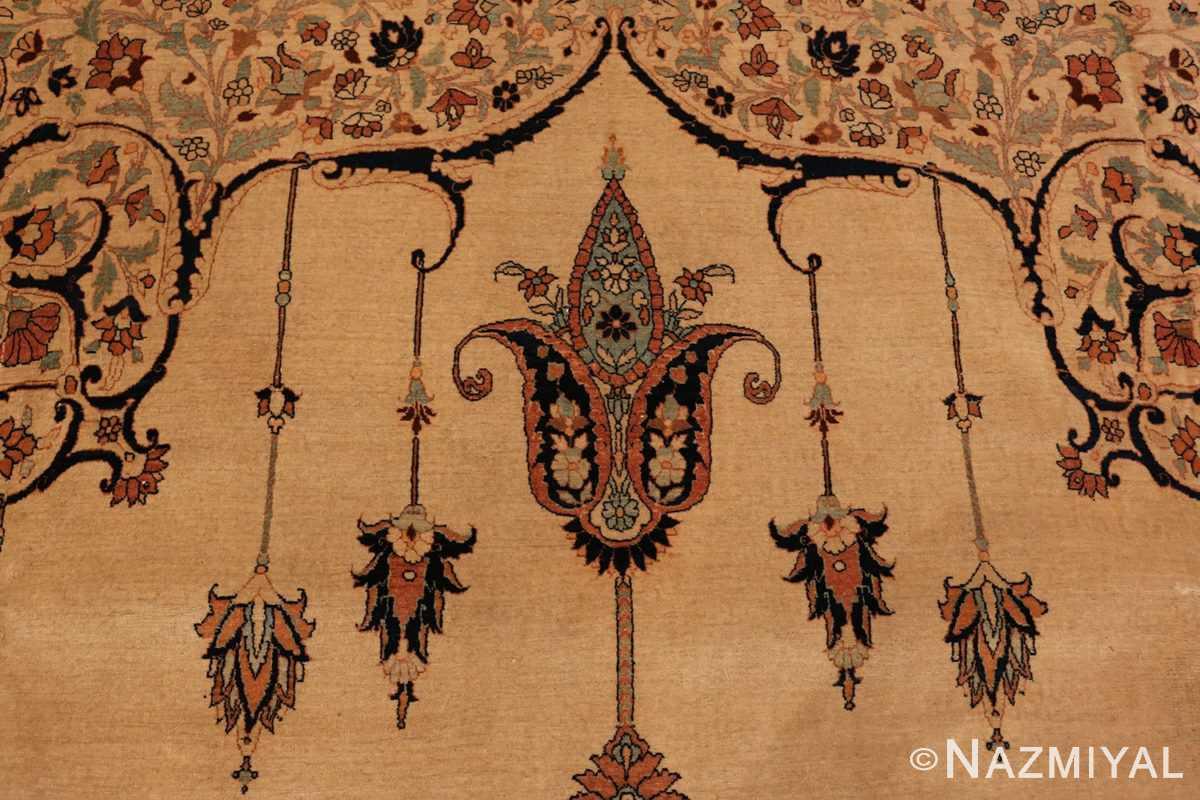 Close up Antique Tabriz Haji Jalili Persian rug 3209 by Nazmiyal