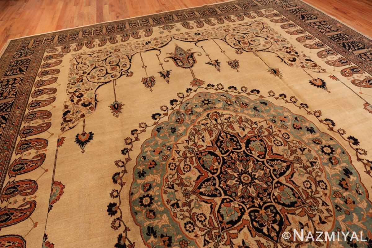 Middle Antique Tabriz Haji Jalili Persian rug 3209 by Nazmiyal