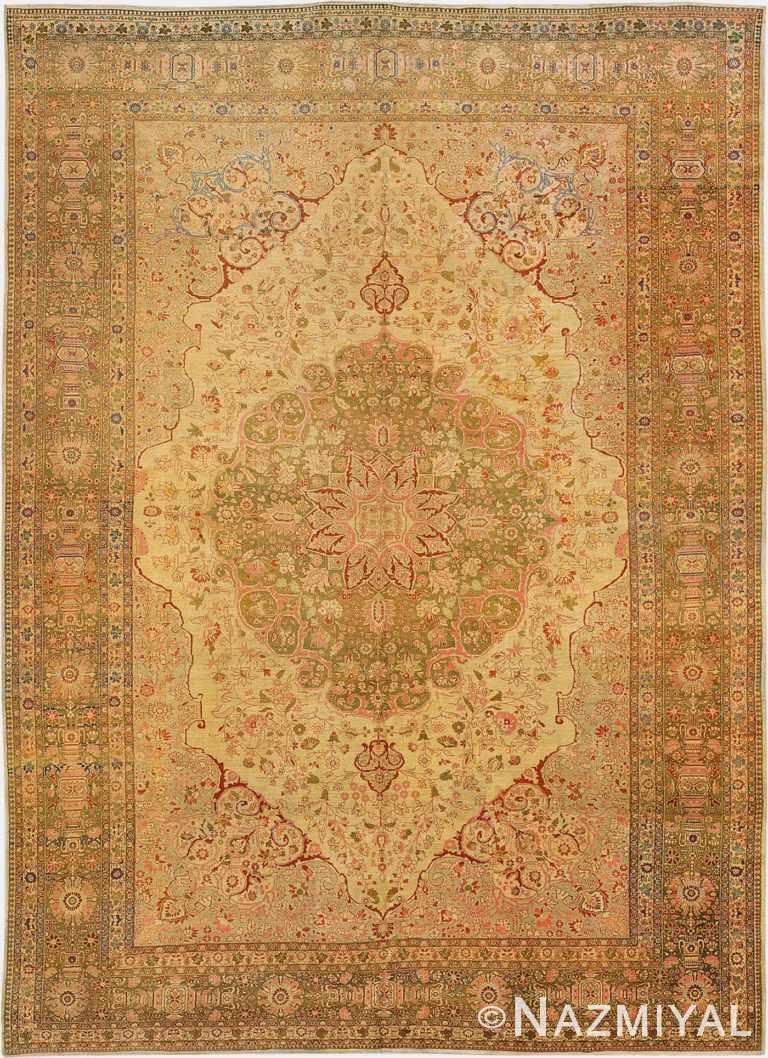 Fine Antique Haji Jalili Tabriz Persian Area Rug 3035 by Nazmiyal Antique Rugs