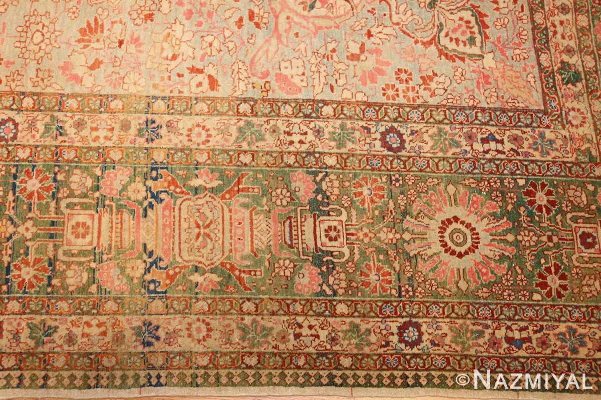 fine antique haji jalili tabriz persian rug 3035 border Nazmiyal