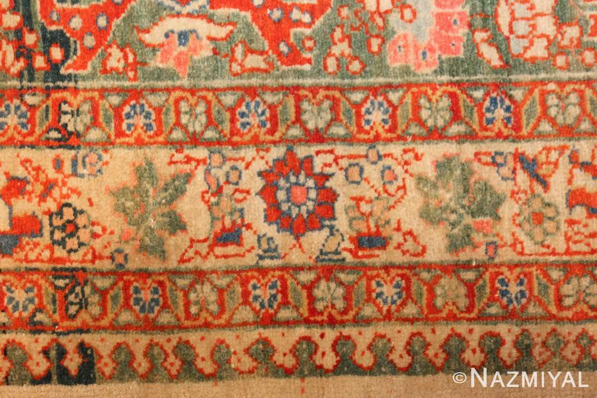 fine antique haji jalili tabriz persian rug 3035 flowers Nazmiyal