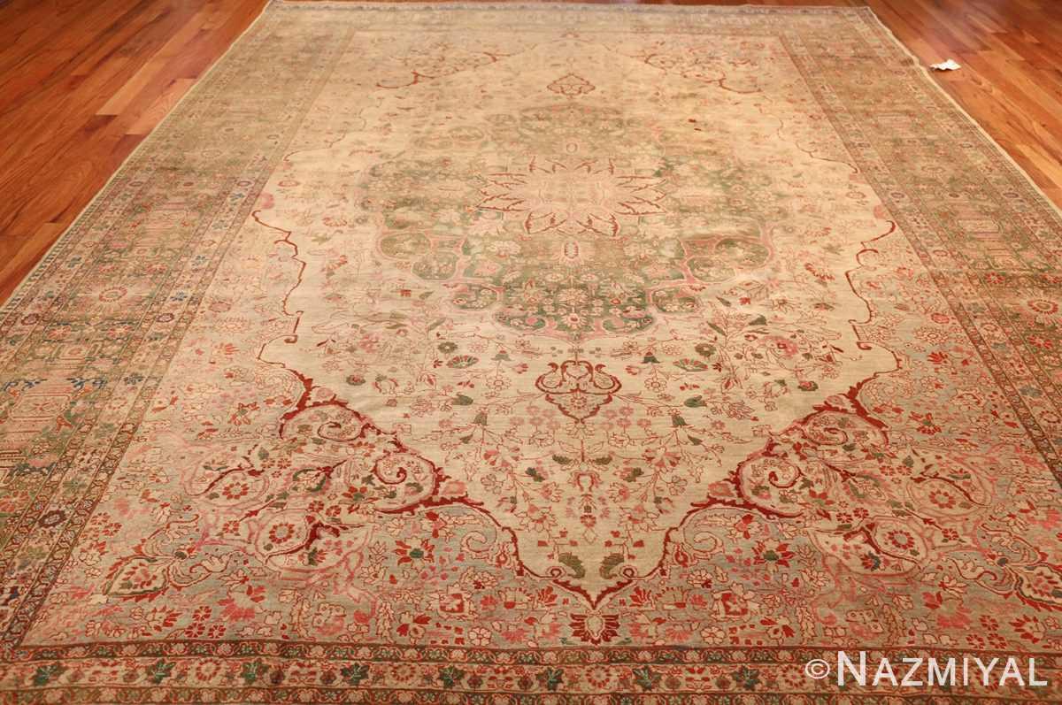 fine antique haji jalili tabriz persian rug 3035 full Nazmiyal