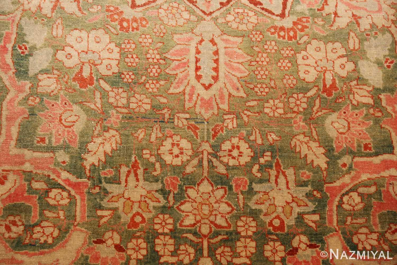 fine antique haji jalili tabriz persian rug 3035 green Nazmiyal