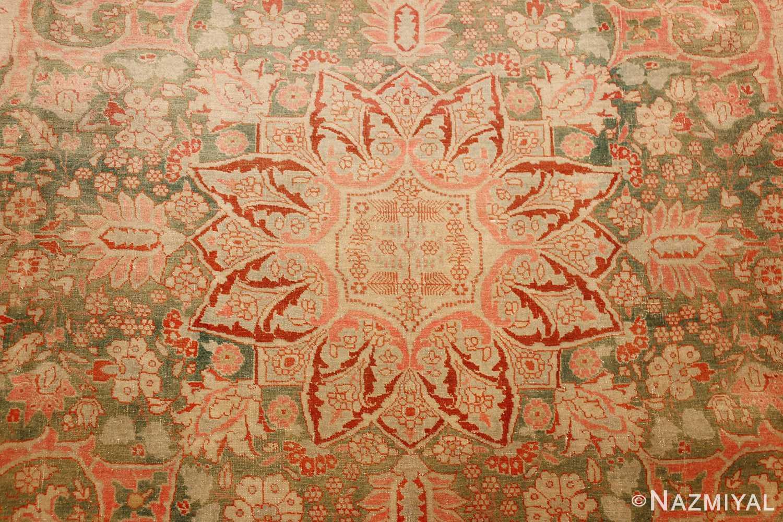 fine antique haji jalili tabriz persian rug 3035 medallion Nazmiyal