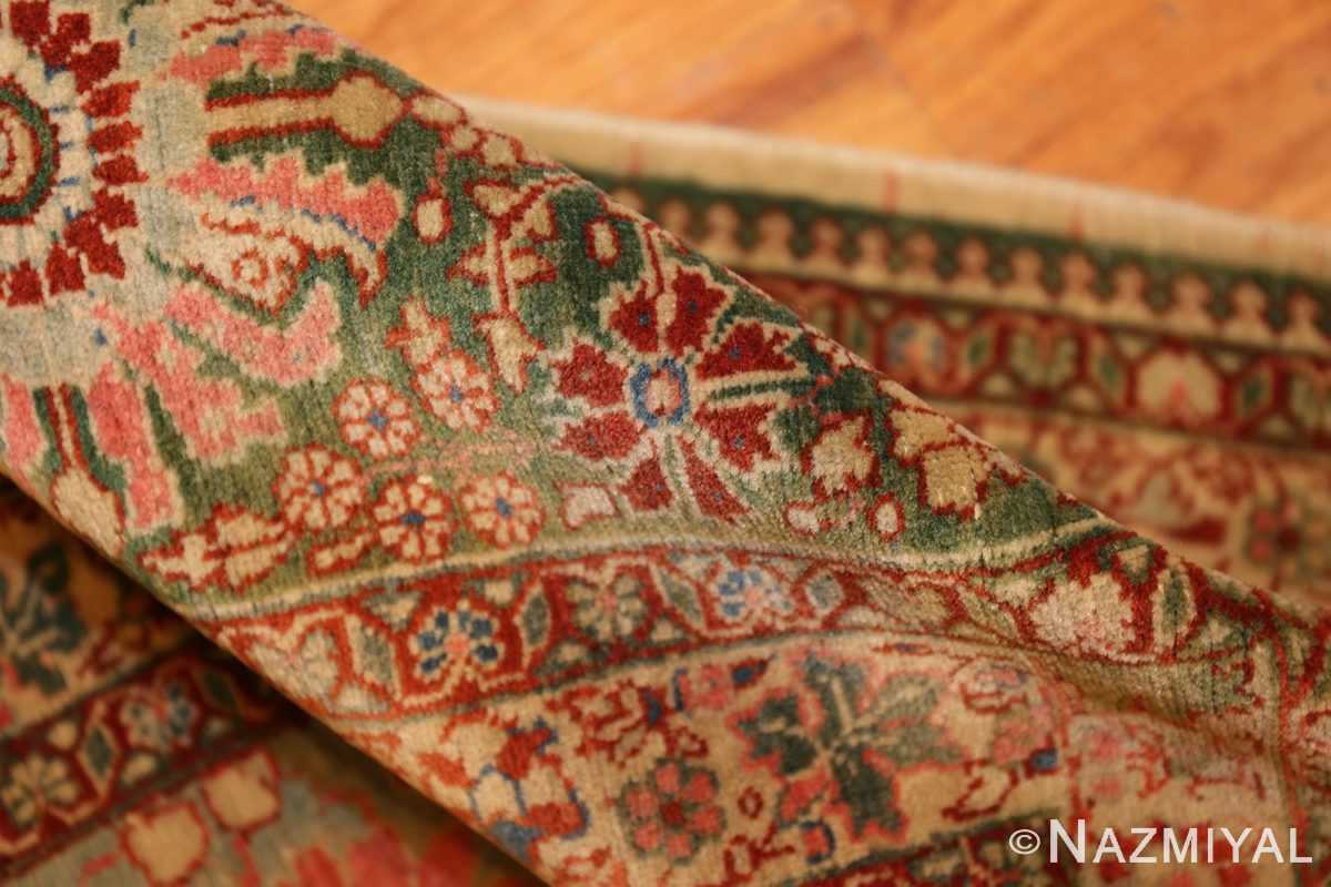 fine antique haji jalili tabriz persian rug 3035 pile Nazmiyal