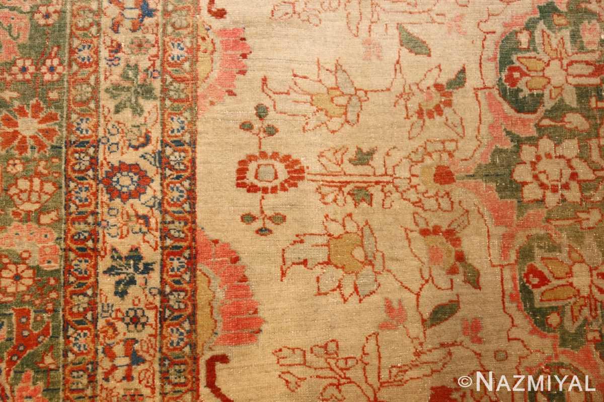 fine antique haji jalili tabriz persian rug 3035 white Nazmiyal