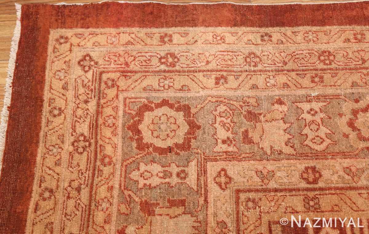 large allover design decorative antique indian amritsar rug 1574 corner Nazmiyal