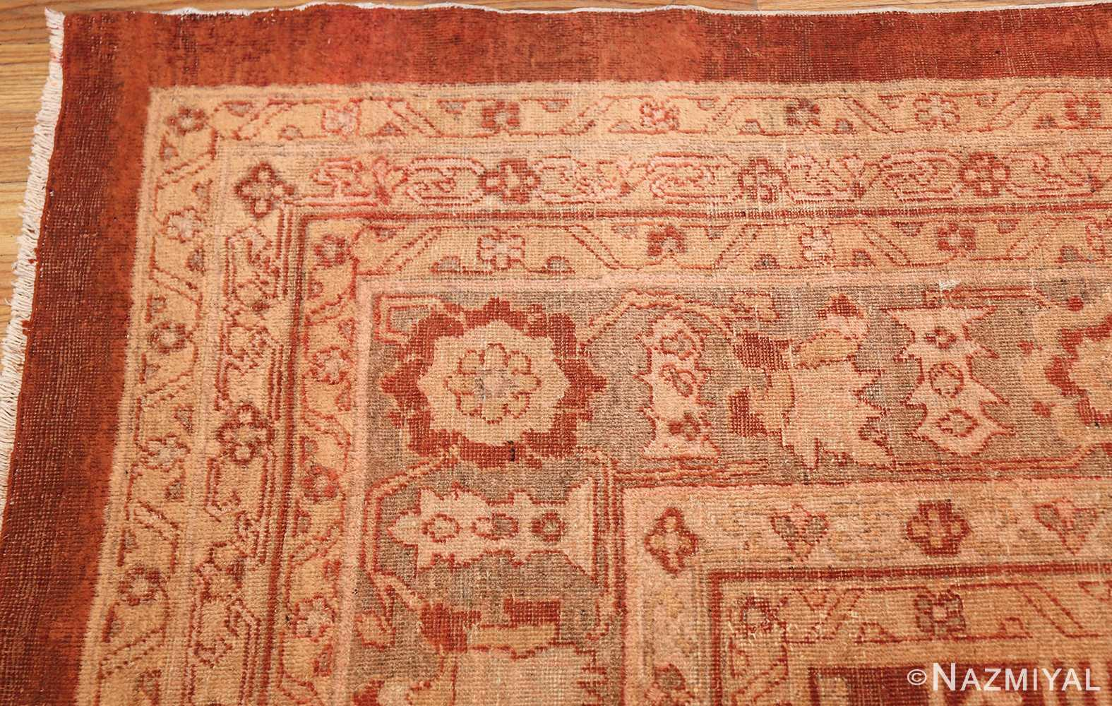 large allover design decorative antique indian amritsar rug 1574 corner Nazmiyal