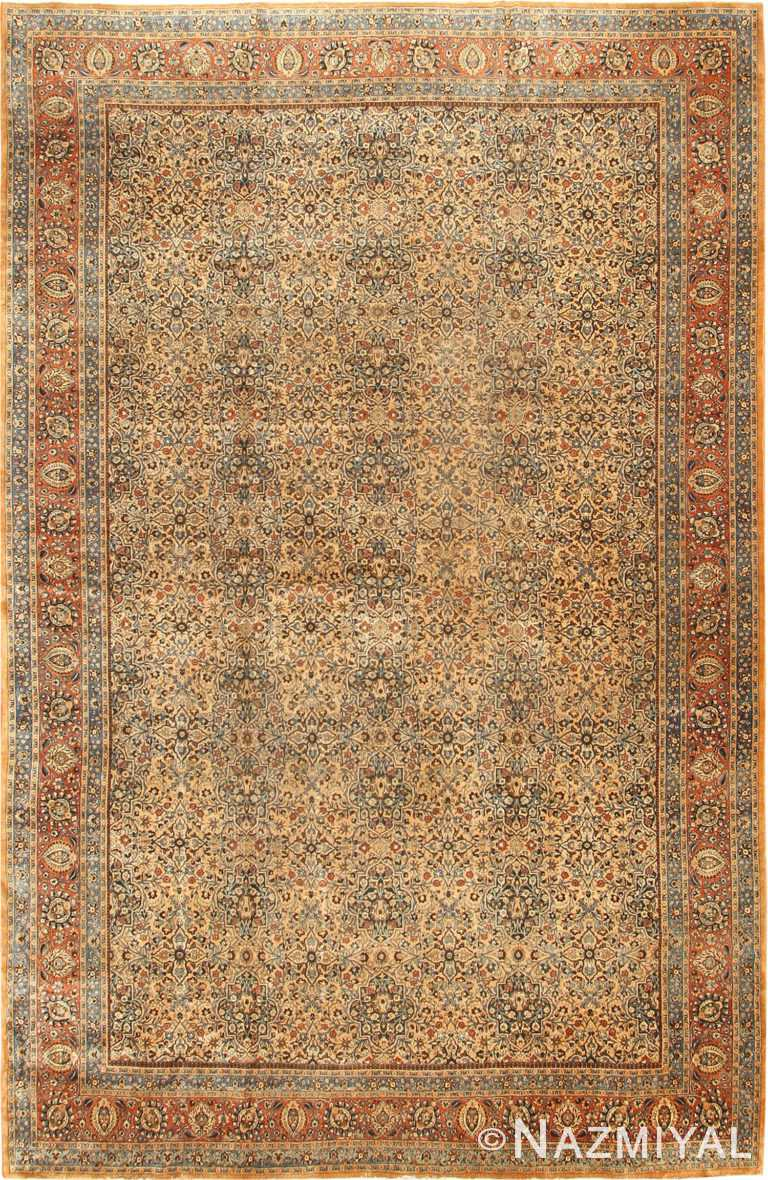 Large Antique Persian Khorassan Area Rug 41964 by Nazmiyal Antique Rugs