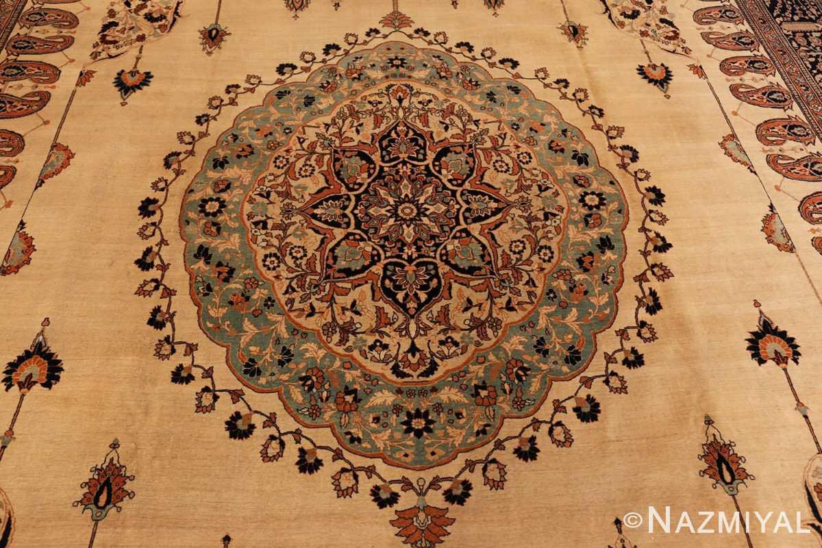 Mandala Antique Tabriz Haji Jalili Persian rug 3209 by Nazmiyal