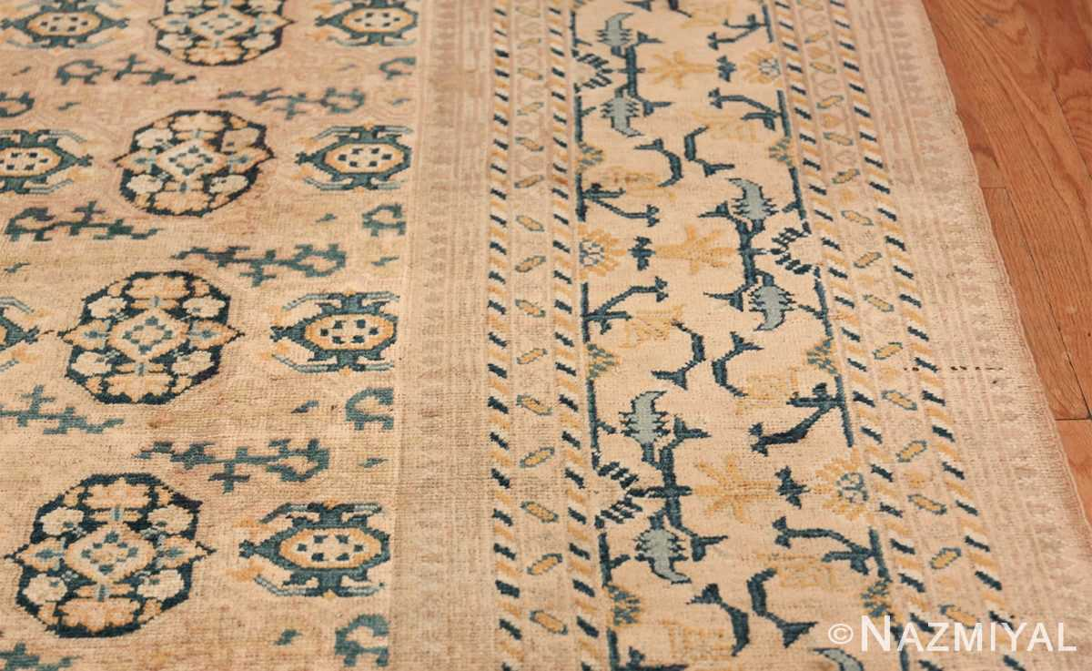 Rare Room Size Antique Khotan Rug 538 Border Design Nazmiyal