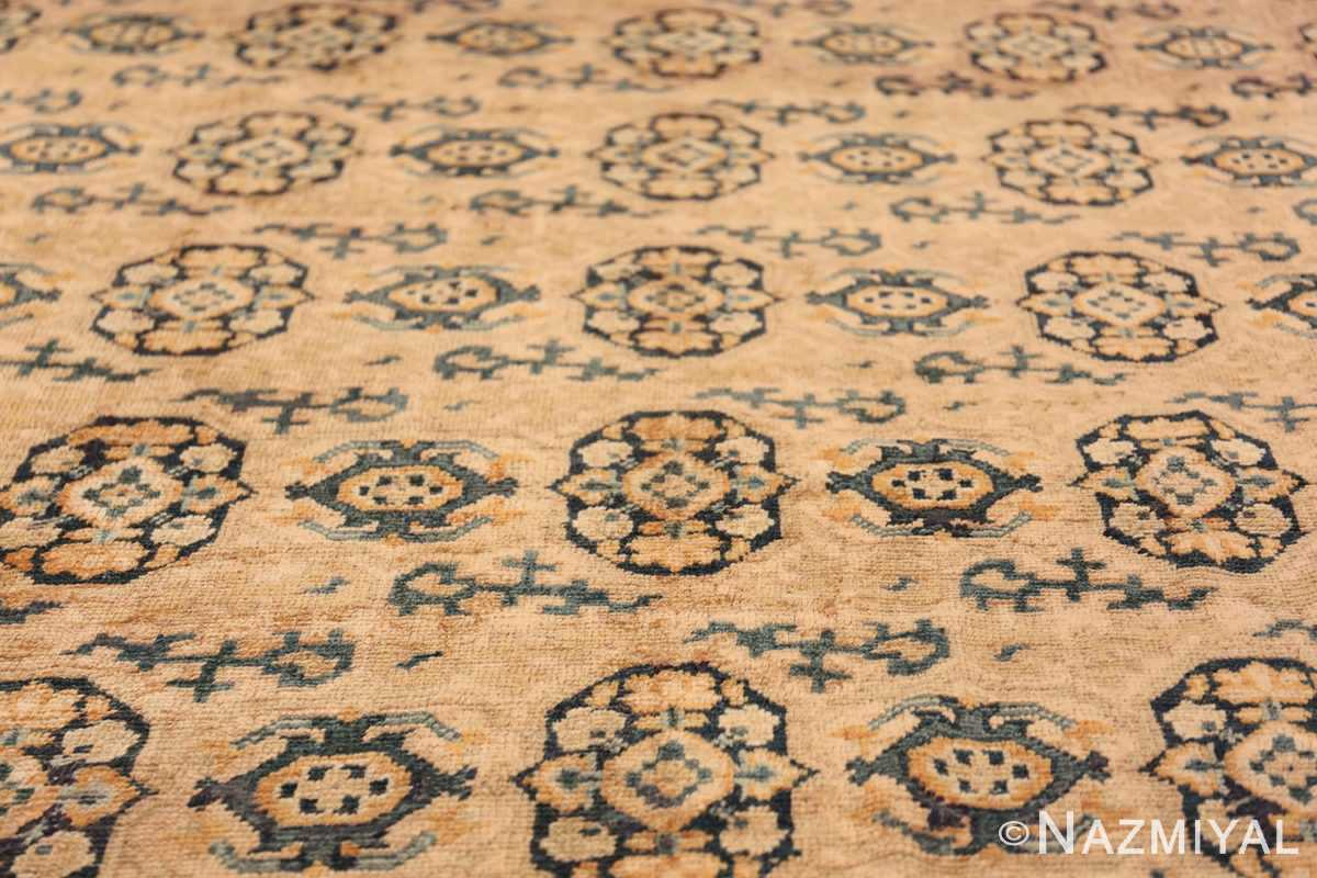 Rare Room Size Antique Khotan Rug 538 Field Design Nazmiyal