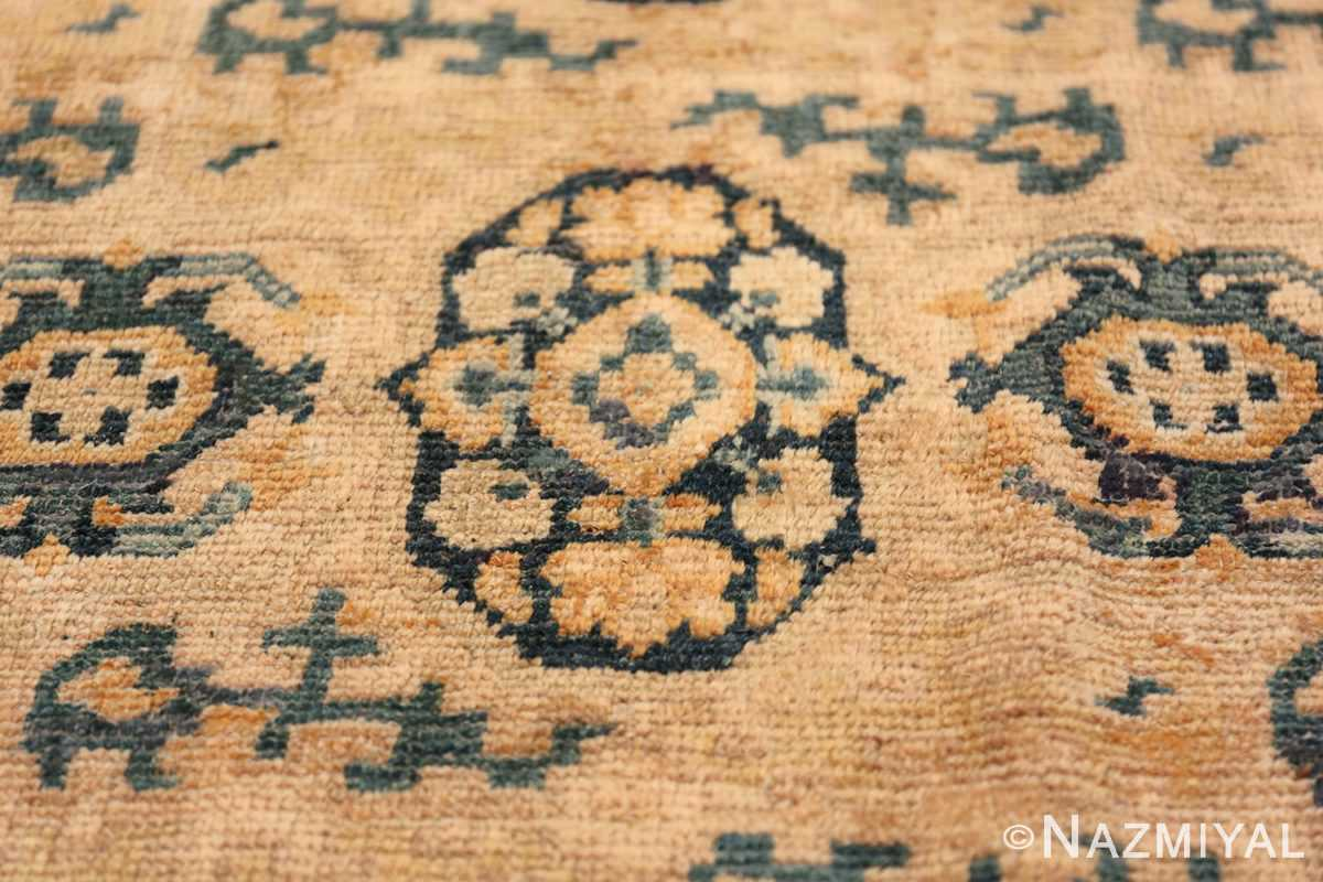 Rare Room Size Antique Khotan Rug 538 Single Vase Nazmiyal